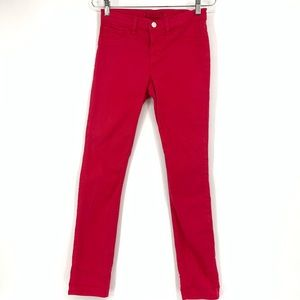 J Brand Shock Pink Skinny Ankle Jeans